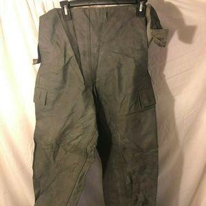 Vintage Rare German Military PU Coated Pants 1496
